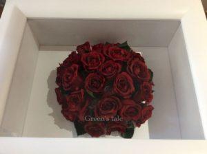 プロポーズの花束をプリザーブド加工